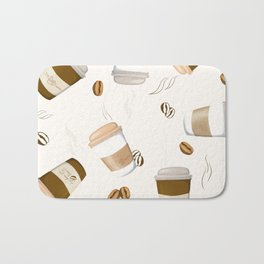 wake up and smell the coffee Bath Mat