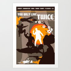 James Bond Golden Era Series :: You Only Live Twice Art Print