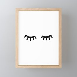 Tired Eyes Framed Mini Art Print