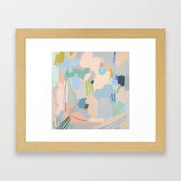 Organic Peach Framed Art Print