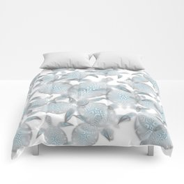 Silver Turtles Pattern Comforters