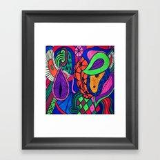 Arstract fruits Framed Art Print
