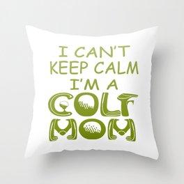 I'M A GOLF MOM Throw Pillow