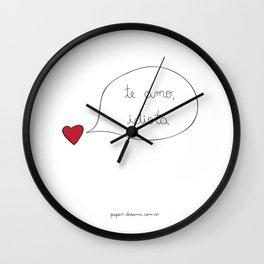 Love you Idiot Wall Clock