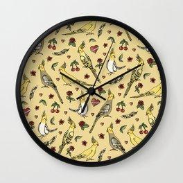 Cockatiel Tattoo Love Wall Clock