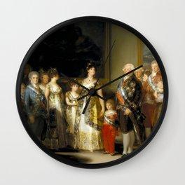 "Francisco Goya ""Charles IV of Spain and His Family (La familia de Carlos IV)"" Wall Clock"