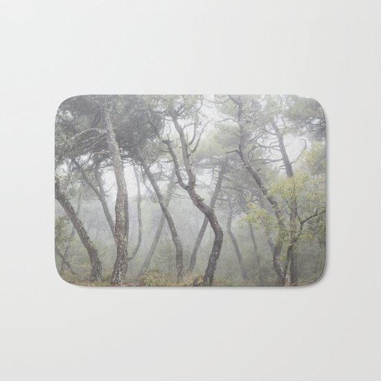 """""""Forest dance"""". Into the foggy woods... Bath Mat"""