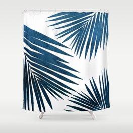 Indigo Palm Fronds Shower Curtain