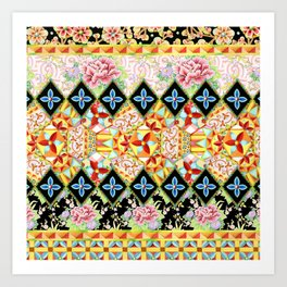 Folkloric Crazy Quilt (printed) Art Print
