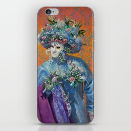 Venetian carnival: Tenderness iPhone Skin