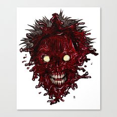 Heads of the Living Dead Zombies: Splat Zombie Canvas Print