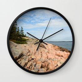 Coastal Life #2 - Travel Photography - Maine art - New England landscape - nature Wall Clock