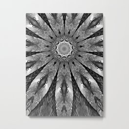Mettalla Abstract White Flower Metal Print