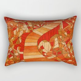 Path in brown and orange 3d landscape Rectangular Pillow