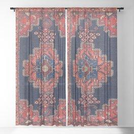 Afshar Kerman South Persian Rug Print Sheer Curtain