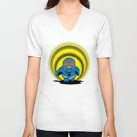 returns V-neck T-shirts featuring Chubbyseid Returns  by AWOwens