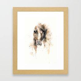 Respect: Portrait of a horse. Framed Art Print
