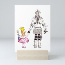 The Princess and her Knight Mini Art Print