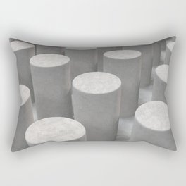 Concrete with cylinders Rectangular Pillow