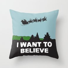 I Want To Believe (in Santa) Throw Pillow