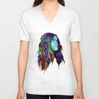 dreamer V-neck T-shirts featuring Dreamer by Peter Fulop