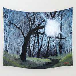Strange Forest, Forest Painting Wall Tapestry