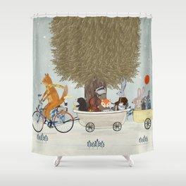 the bunny lullaby Shower Curtain