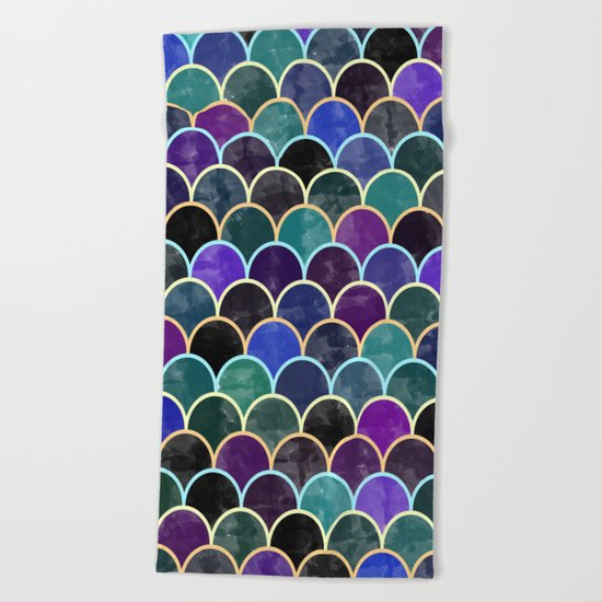 Watercolor Lovely Pattern VVI Beach Towel