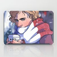enjolras iPad Cases featuring Winter Enjolras by rdjpwns