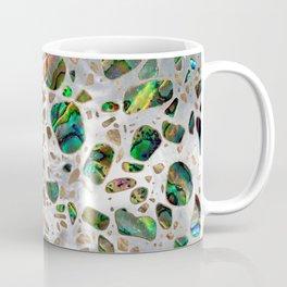 Terrazzo - Mosaic Abalone Pearl and Gold #4 Coffee Mug