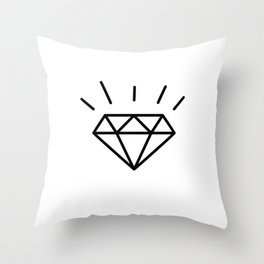 Fun Diamond Throw Pillow