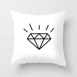 Fun Diamond Throw Pillow