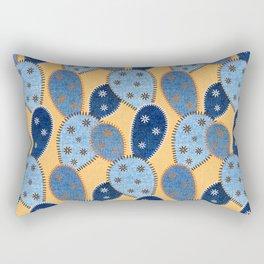 Denim Cactus Patchwork Quilt (Camel) Rectangular Pillow