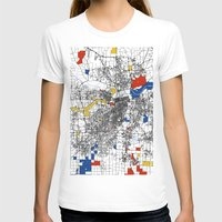kansas T-shirts featuring Kansas City  by Mondrian Maps