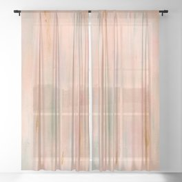 Desert Sunset in Acrylic v.3 Sheer Curtain