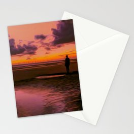 Another place at sunset Stationery Cards