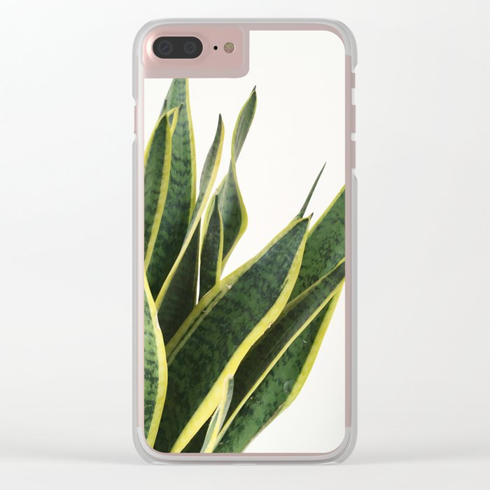 Sansevieria Clear iPhone Case