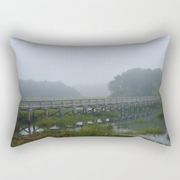 Uncle Tim's Bridge in a Fog Rectangular Pillow
