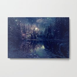 Winter Forest Deep Pastel Metal Print