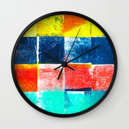 Vivid Colors Collage Wall Clock