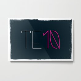 one to 10: TEN Metal Print