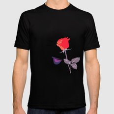 Wink | Floral MEDIUM Mens Fitted Tee Black