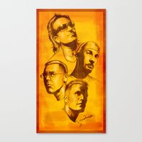 u2 Canvas Prints featuring U2 - Série Ouro by Renato Cunha