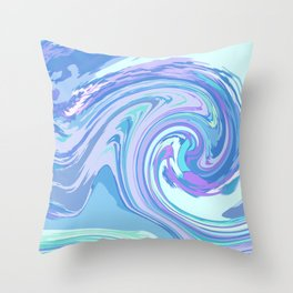 BLUE MIX Throw Pillow