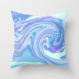 BLUE MIX Throw Pillow