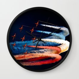 BEAUTIFUL AIRPLANE FORMATION1 Wall Clock