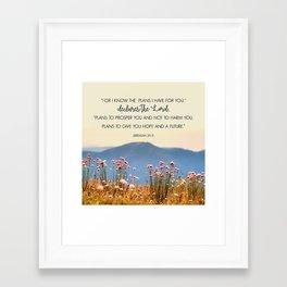 Jeremiah 29:11 Framed Art Print