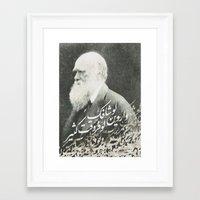 darwin Framed Art Prints featuring Darwin by Warsheh