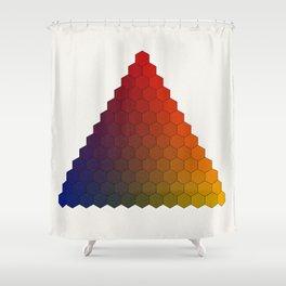 Lichtenberg-Mayer Colour Triangle variation, Remake using Mayers original idea of 12+1 chambers Shower Curtain