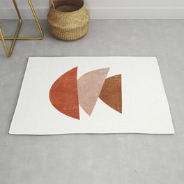 Abstract Bowls 1 - Terracotta Abstract - Modern, Minimal, Contemporary Print - Brown, Beige Rug
